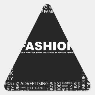 bigstock-FASHION-Word-collage-on-black-13237136.jp Pegatina Triangular