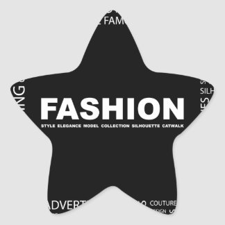bigstock-FASHION-Word-collage-on-black-13237136.jp Star Sticker