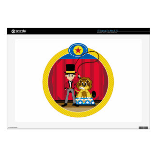 Bigtop Circus Ringmaster and Lion Decal For Laptop
