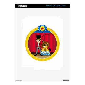 Bigtop Circus Ringmaster and Lion Decals For iPad 3