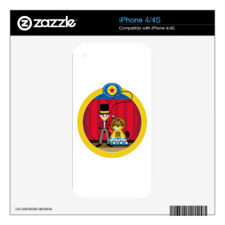 Bigtop Circus Ringmaster and Lion Decals For iPhone 4