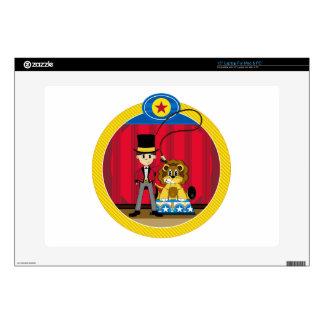 Bigtop Circus Ringmaster and Lion Laptop Skin