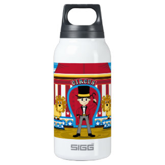 Bigtop Circus Ringmaster and Lions Insulated Water Bottle