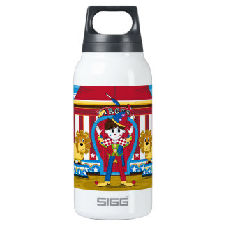 Bigtop Juggling Circus Clown and Lions Insulated Water Bottle
