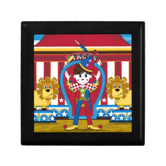 Bigtop Juggling Circus Clown and Lions Keepsake Box