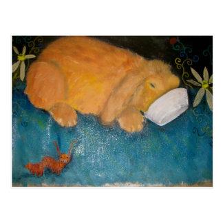 bigwig the magic bunny postcard