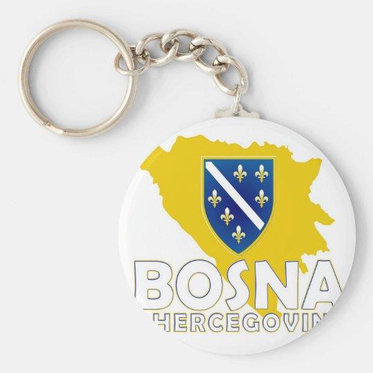 BiH Map Keychain