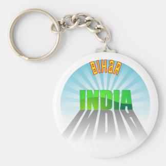 Bihar Basic Round Button Keychain