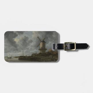 Bij holandés Duustede, Ruisdael de Wijk del molino Etiqueta De Maleta