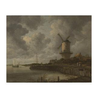 Bij holandés Duustede, Ruisdael de Wijk del molino Impresiones En Madera