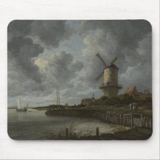 Bij holandés Duustede, Ruisdael de Wijk del molino Tapetes De Ratón