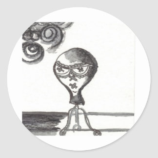 Bijini Art Print #1: Sunglasses For Sale Classic Round Sticker