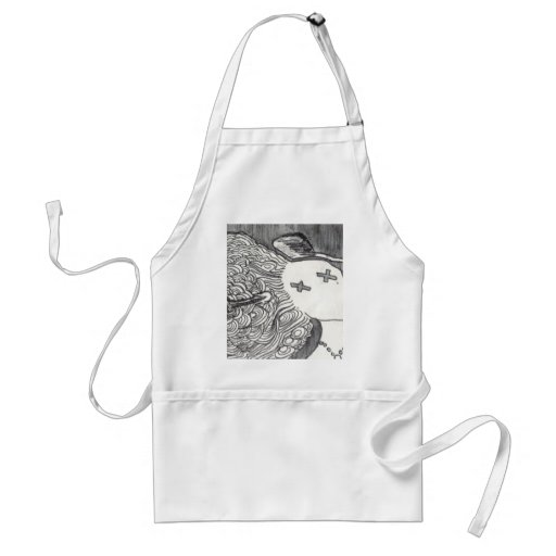 Bijini Art Print 2 Dead Lady with the Pointed Hat Adult Apron
