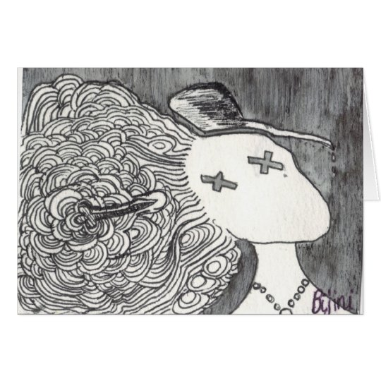Bijini Art Print 2 Dead Lady with the Pointed Hat Card