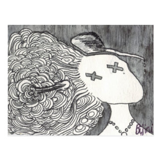 Bijini Art Print 2 Dead Lady with the Pointed Hat Postcard