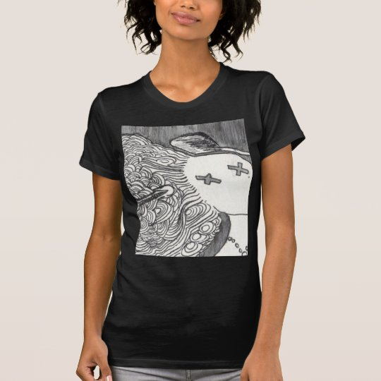 Bijini Art Print 2 Dead Lady with the Pointed Hat T-Shirt