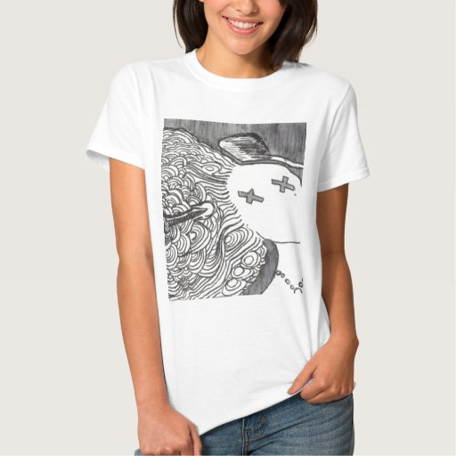 Bijini Art Print 2 Dead Lady with the Pointed Hat Tshirt