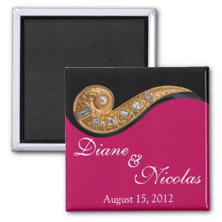 """""""Bijoux"""" keepsake magnet, wedding favor 2 Inch Square Magnet"""