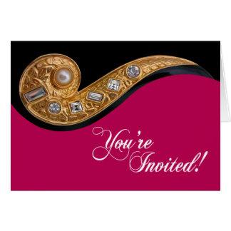 """Bijoux"" Wedding Invitation Greeting Card"
