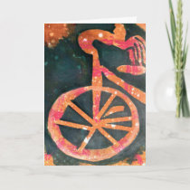 Bikathon - greeting card - bike