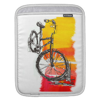 Bike Abstract Expressionist Art Sleeve For iPads