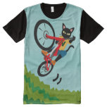 Bike Action All-over-print Shirt at Zazzle