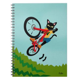 Bike Action Spiral Note Book