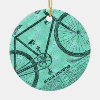 Bike Ad Ceramic Ornament