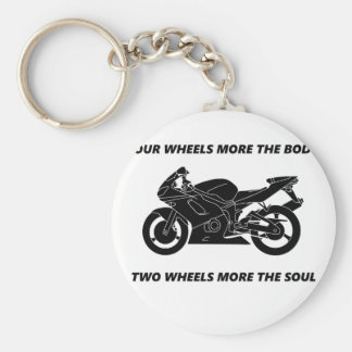 Bike and body soul keychain