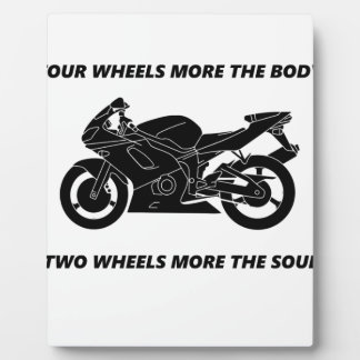 Bike and body soul plaque