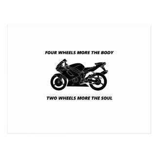 Bike and body soul postcard