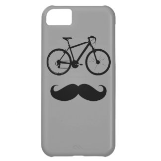 bike and mustache case for iPhone 5C