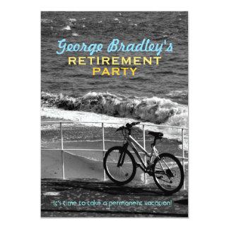 Bike and Sea Retirement Party Custom Invitation