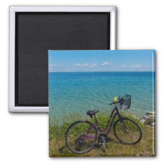 Bike At Mackinac Magnet