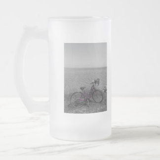 Bike At Mackinac Select Color Frosted Glass Beer Mug
