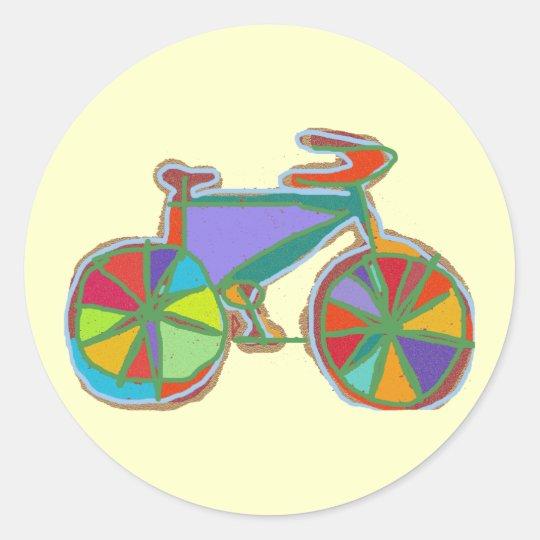 bike , bicycle ; biking / cycling classic round sticker