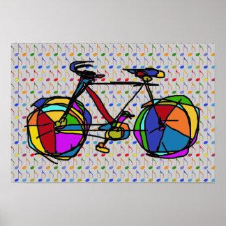 bike , bicycle ; biking / cycling poster