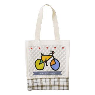 bike , bicycle ; biking / cycling zazzle HEART tote bag