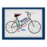 Bike, Bicycle Customize color, Motivational Posters