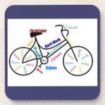 Bike, Bicycle, Cycle, Sport, Biking, Motivational Drink Coasters