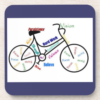 Bike, Bicycle, Cycle, Sport, Biking, Motivational Drink Coaster