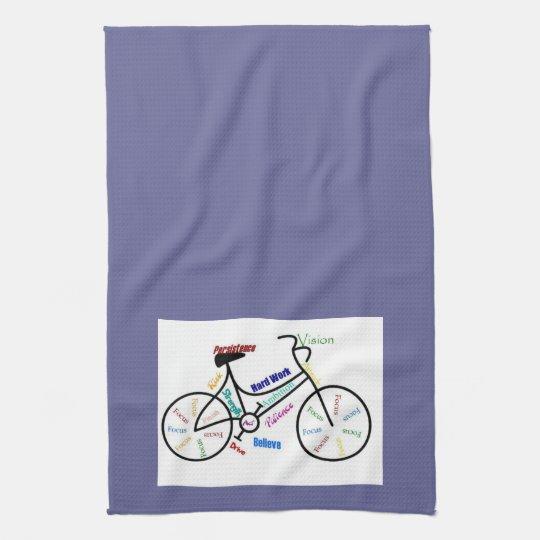 Bike, Bicycle, Cycle, Sport, Biking, Motivational Hand Towels