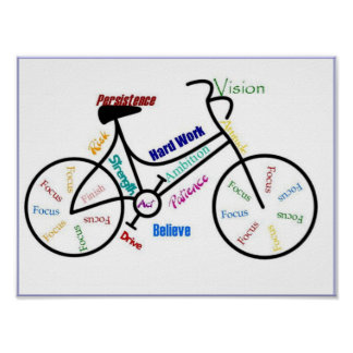 Bike Bicycle Cycle Sport Biking Motivational Posters