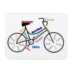 Bike, Bicycle, Cycle, Sport, Biking, Motivational Rectangular Magnets