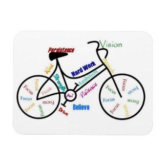 Bike, Bicycle, Cycle, Sport, Biking, Motivational Rectangular Photo Magnet