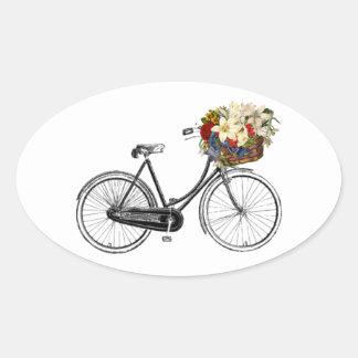 Bike bicycle flower pretty scrapbook sticker