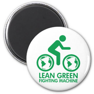 Bike Bicycle Green 2 Inch Round Magnet