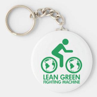 Bike Bicycle Green Basic Round Button Keychain