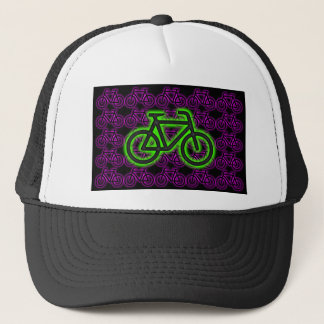 Bike, Bicycle, Neon, Green, Pink , Purple Trucker Hat