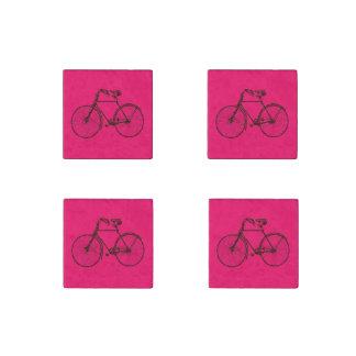 Bike bicycle  pink brown fridge magnet